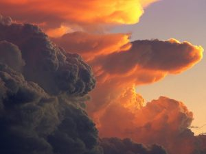 Cumulus-Clouds-at-Sunset