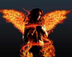 brunettes women flames wings fire photomanipulations 1280x1024 wallpaper_www.wallpaperfo.com_43